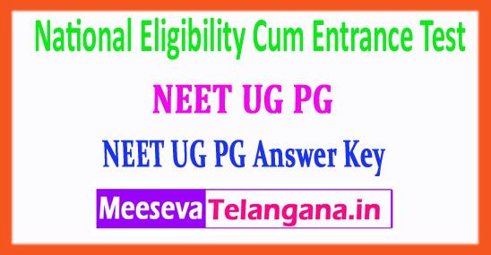 NEET National Eligibility Cum Entrance Test NEET Answer Key 2018