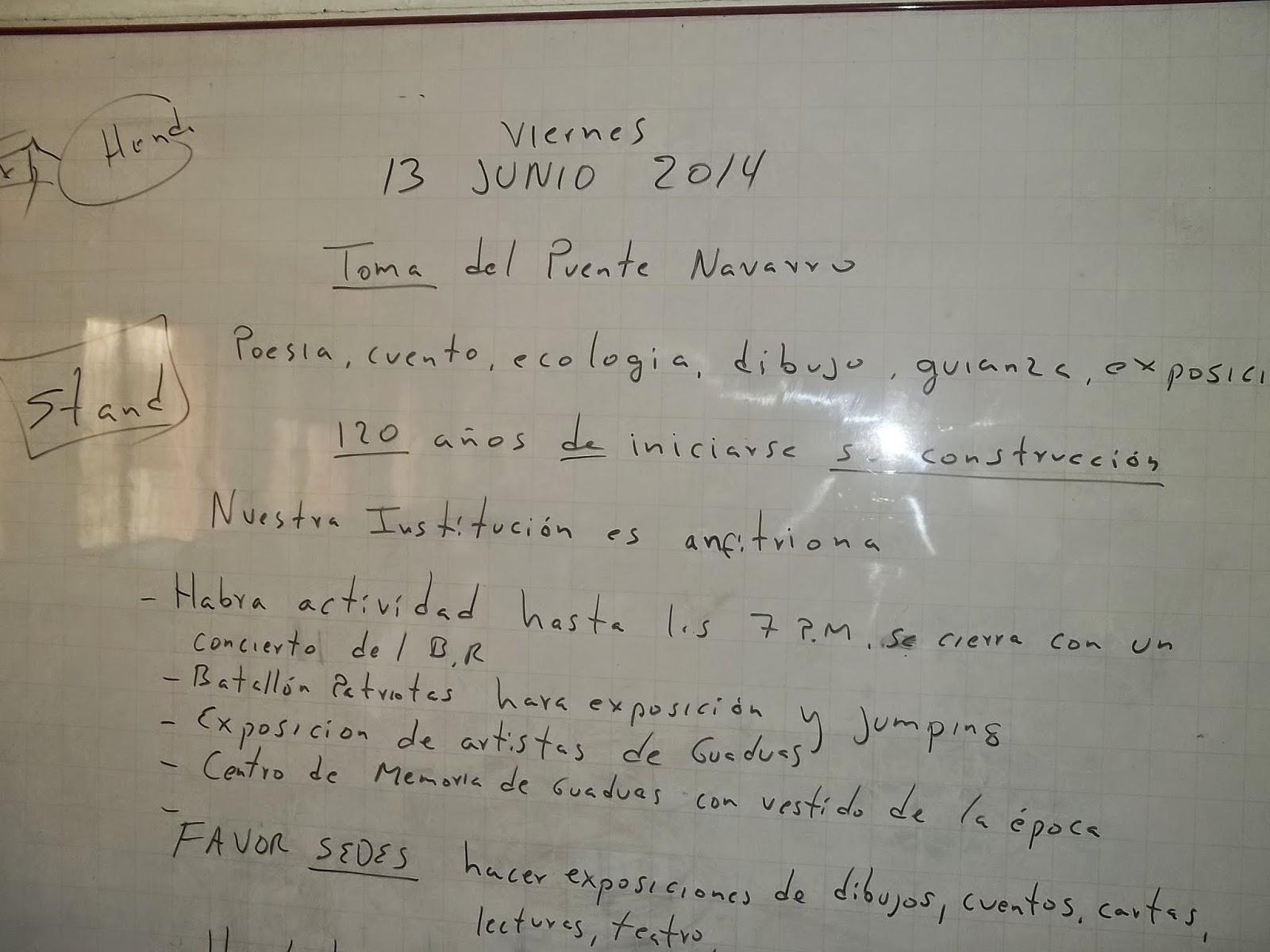 Puerto Bogot 225 Hoy1 Socializaci 243 N De Actividades Puente