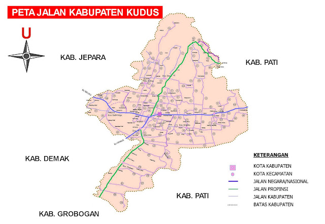Gambar Peta Jalan Kabupaten Kudus