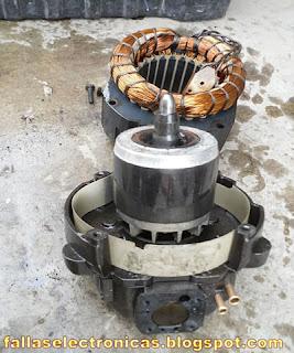 parte mecanica y electrica de un compresor