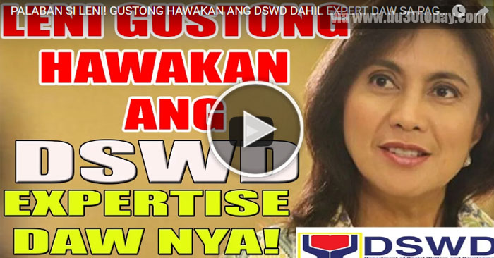VP Leni Robredo Wants to Handle DSWD Because It's Her Expertise
