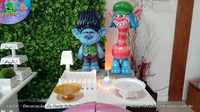 Decoração de festa infantil tema Trolls