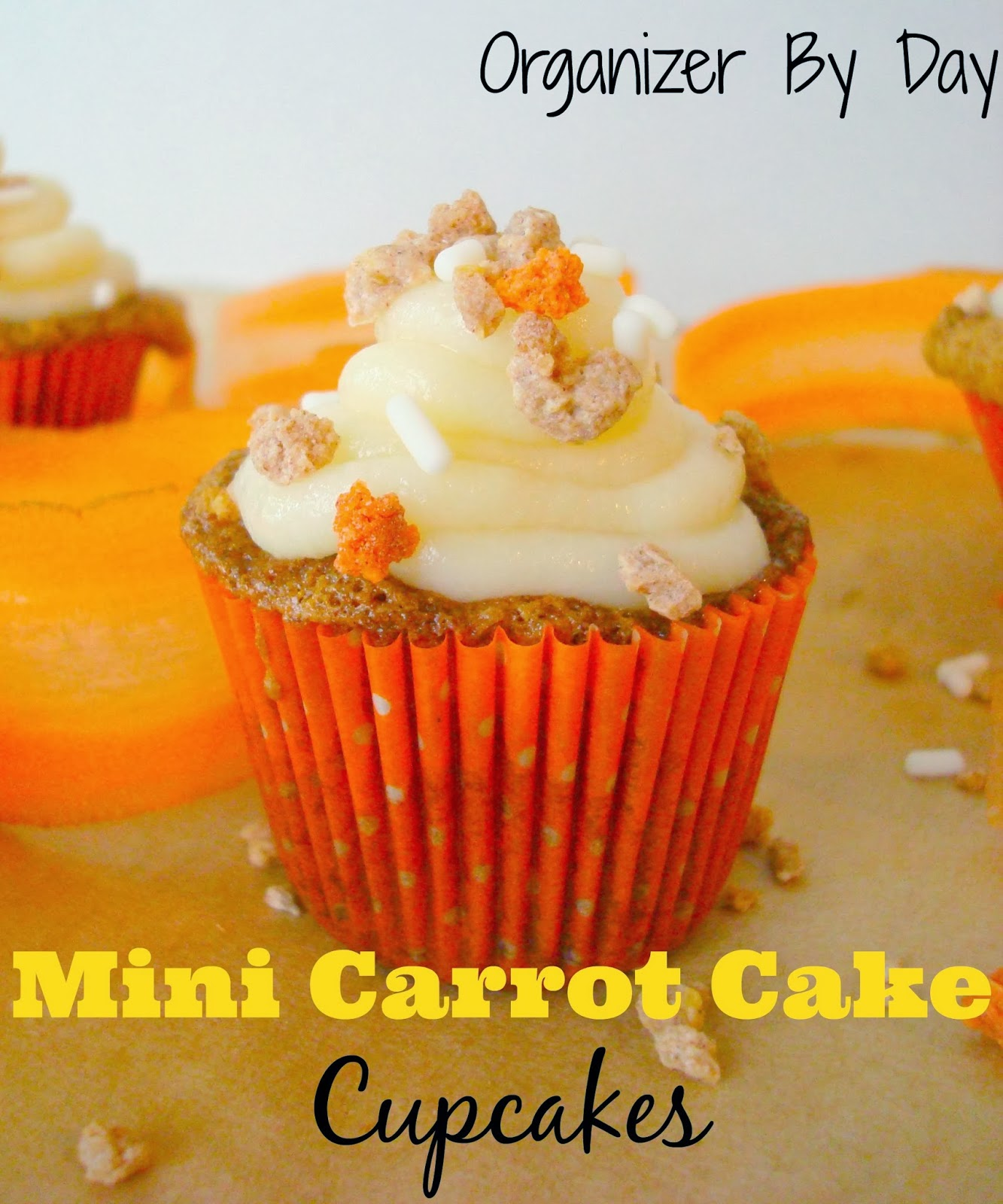 Mini Carrot Cake Cupcakes. Super yum! Recipe
