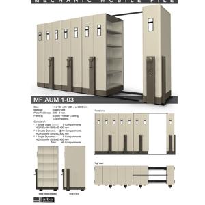Mobile File Mekanik Alba MF AUM 1-03 ( 40 Compartments )