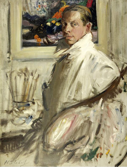 Francis Campbell Boileau Cadell, Self Portrait, Portraits of Painters, Francis Campbel, Fine arts, Portraits of painters blog, Paintings of Francis Campbel, Painter  Francis Campbel