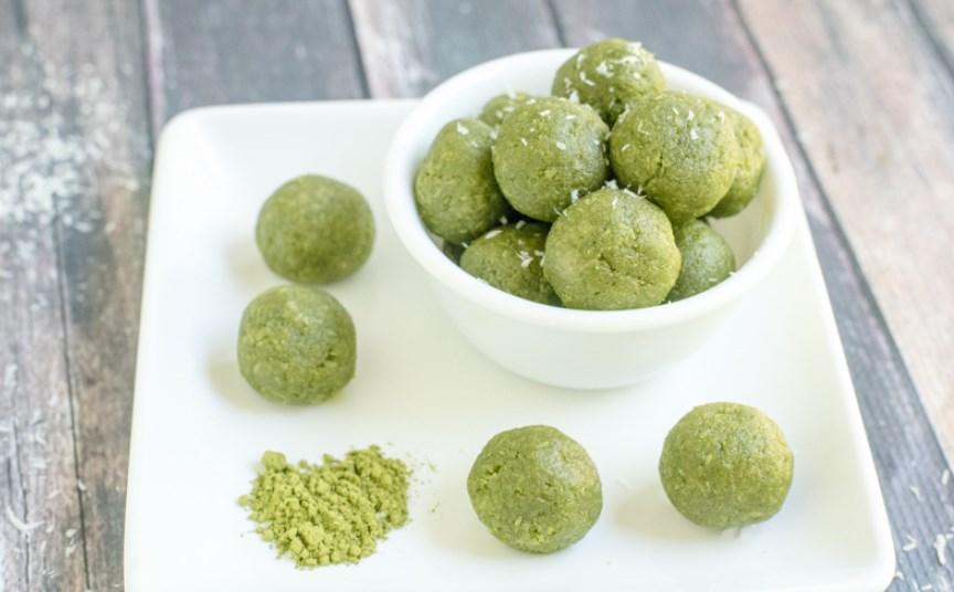 Matcha Green Tea Energy Bites #healthysnack #paleo