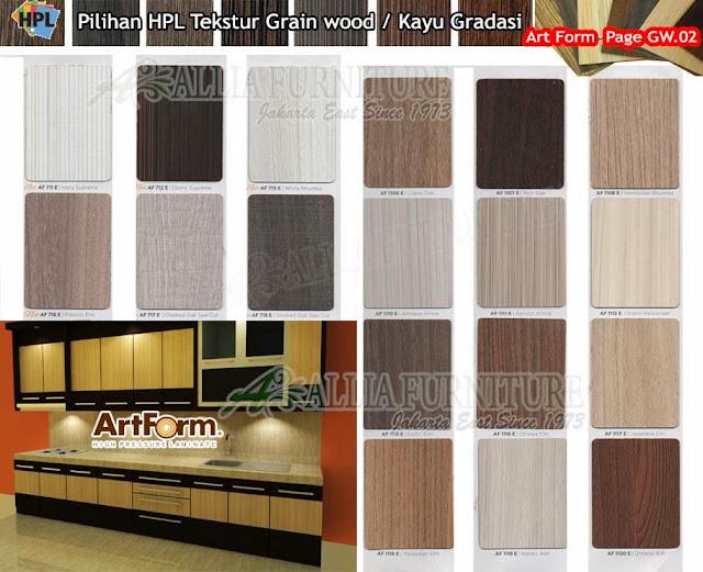 GW.02 HPL Art form motif tekstur Kayu gradasi