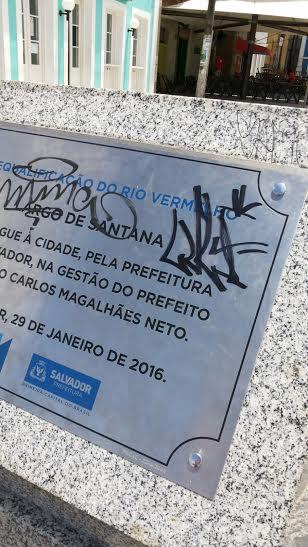 Mais uma digital de vandalismo no Rio Vermelho