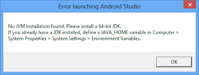 "3 Ways to Solve ""No JVM installation found. Please install a 64-bit JDK"" - Android Studio"
