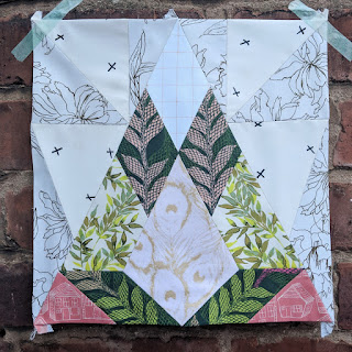 Geo Diamond quilt block made with Art Gallery Fabrics by Charm About You