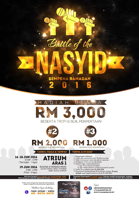 Battle Of The Nasyid 2016 ,  Battle Of The Nasyid , Telaga Biru , Battle Of The Nasyid Sempena Ramadhan 2016 ,Ramadhan 2016 , Pertandingan Battle Of The Nasyid 2016