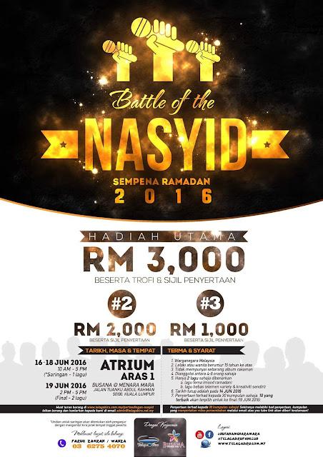 Battle Of The Nasyid 2016 ,  Battle Of The Nasyid , Telaga Biru , Battle Of The Nasyid Sempena Ramadhan 2016 ,Ramadhan 2016 , Pertandingan Battle Of The Nasyid 2016