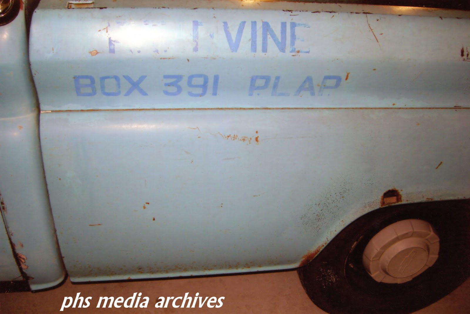 1961 Chevrolet Apache Resto Part A Initial Exam And Tear Down 1960 Studebaker Lark Wiring Diagram Original Farm Address Name Stencilled Over The Factory Brigade Blue Paint