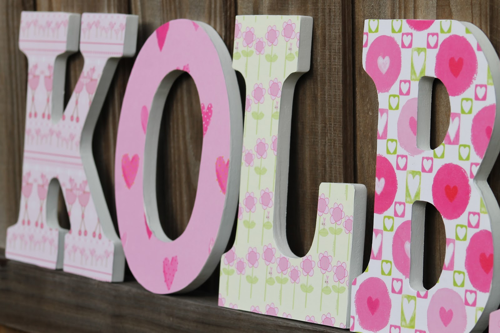 Desperate Craftwives: Nursery Wall Letters