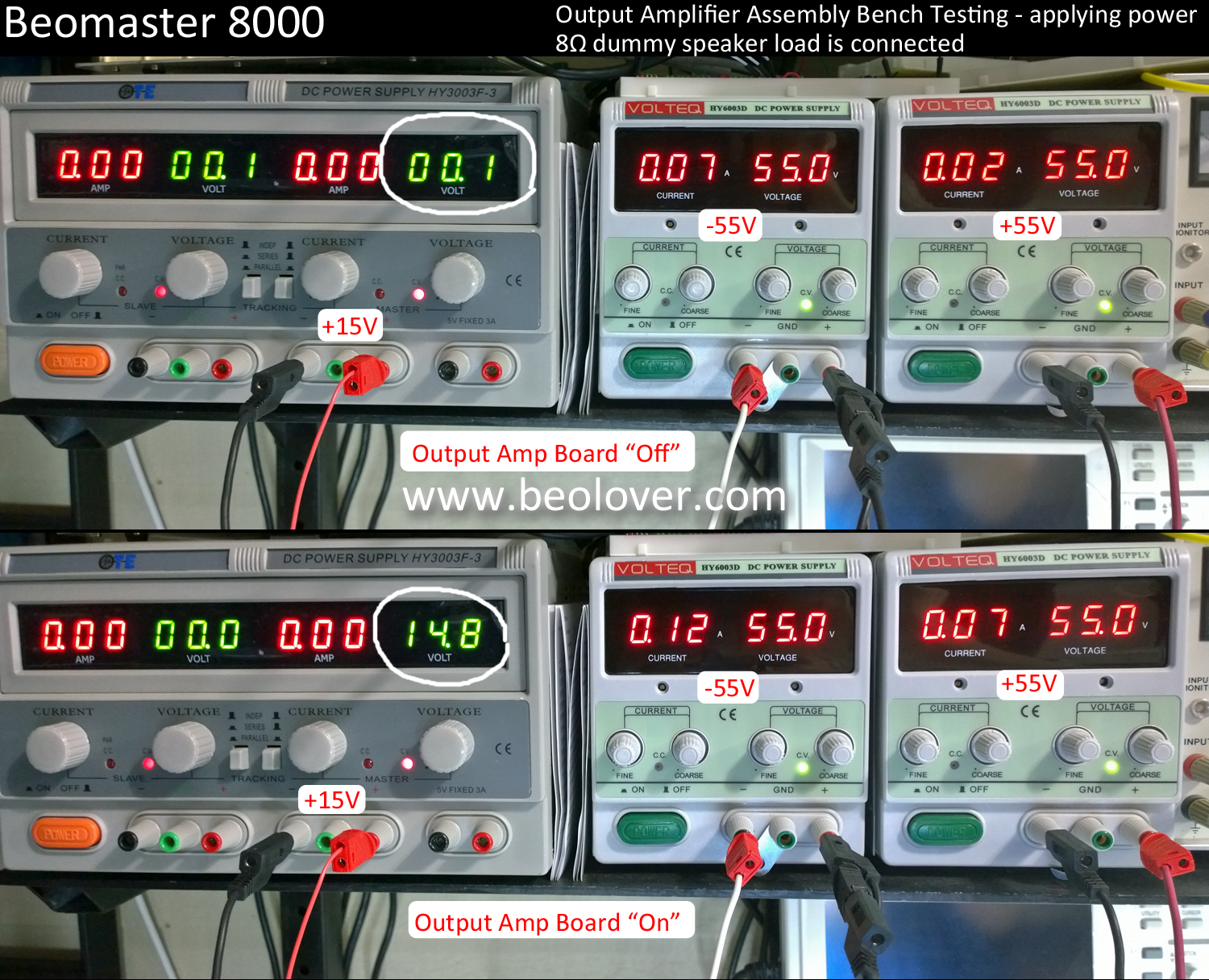 beolover: Beomaster 8000 - Output Amplifier Bench Testing Review