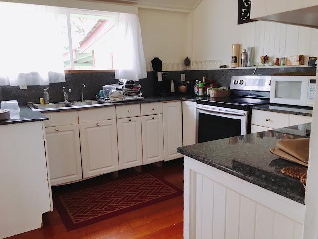 kitchen at Dreams Come True on Lana'i Island in Hawai'i
