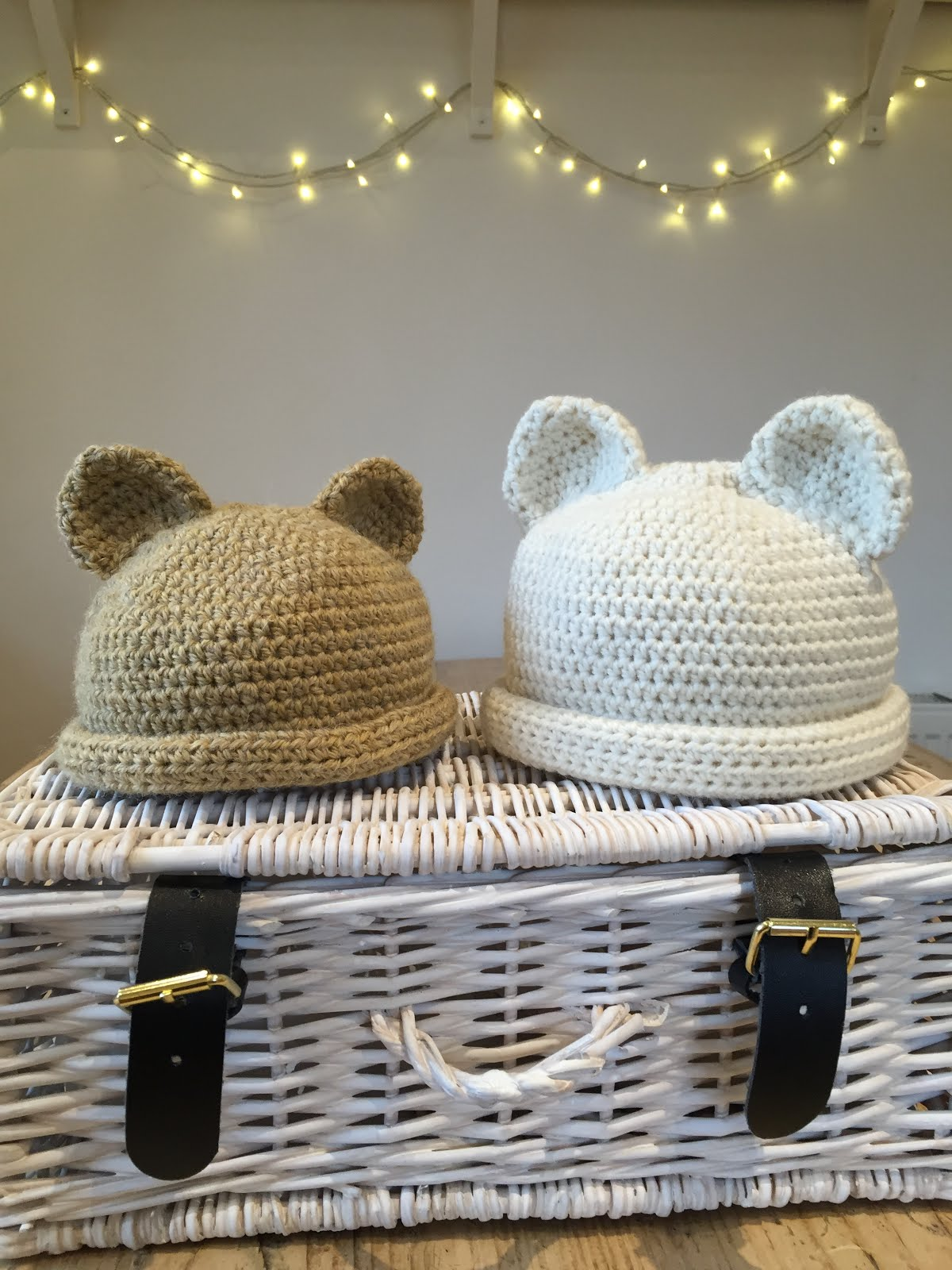 Polar Bear and Teddy Bear Hats