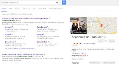 Academia de Traduceri pe Google