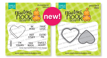 Candy Heart  | Mini Valentine Candy Stamp Set and Die Set by Newton's Nook Designs #newtonsnook