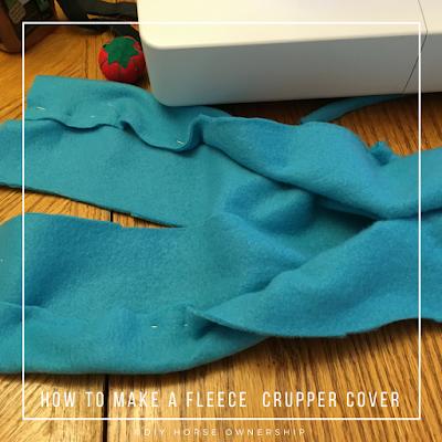 DIY: How to Make a Fleece Crupper Cover