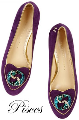 Charlotte Olympia Pisces Suede Flats Cosmic Collection