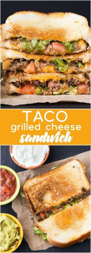 Taco Grilled Cheese Sandwich #sandwich #lunch #taco #Grilled #cheese