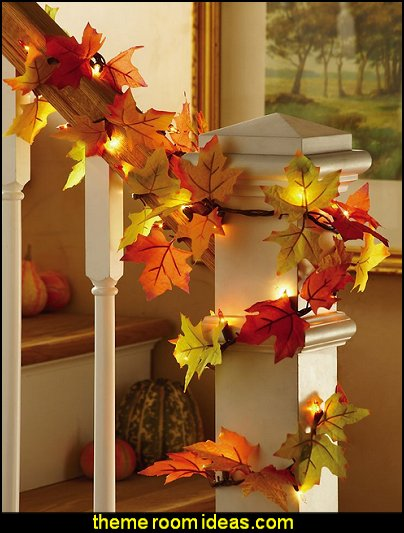 seasonal decor -  Autumn Fall Thanksgiving Harvest Decor  - fall themed bedding -