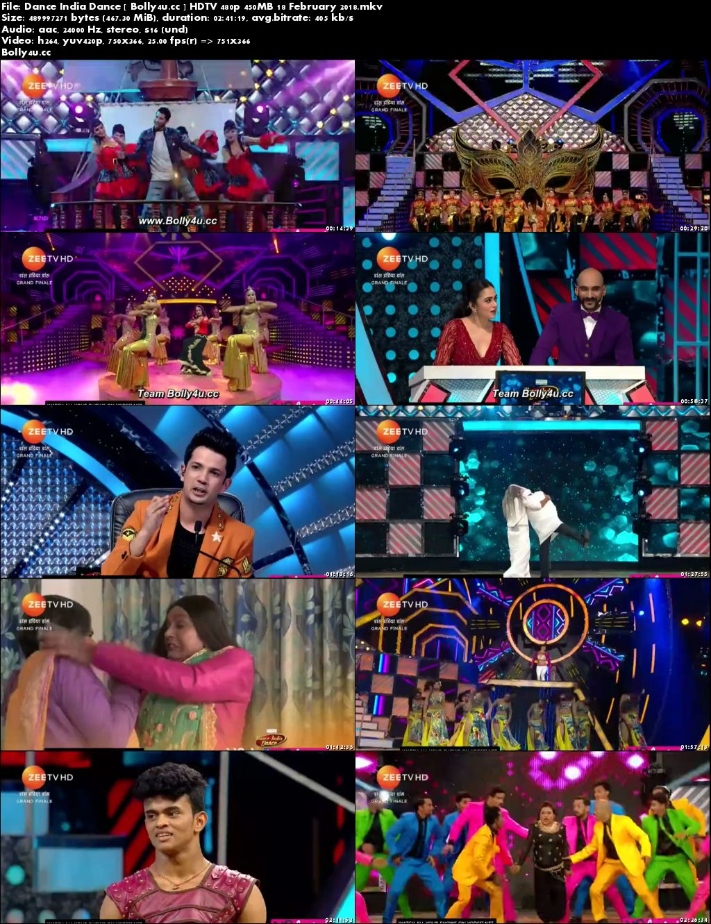 Dance India Dance Grand Finale HDTV 480p 450MB 18 February 2018 Download
