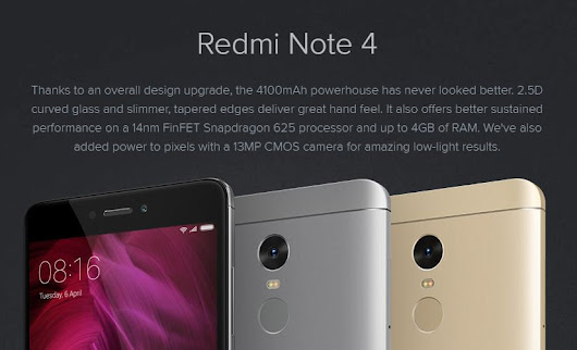Xiaomi Redmi Note 4 Technical & Build Specifications Review