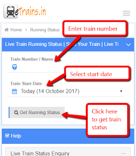Live train running status : Etrains.in