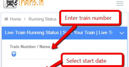 How to check Indian Railways Live Running Status of Train