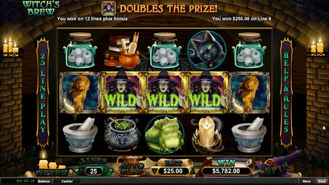 New Slots Game: Witche's Brew now available at Slots of Vegas Casino