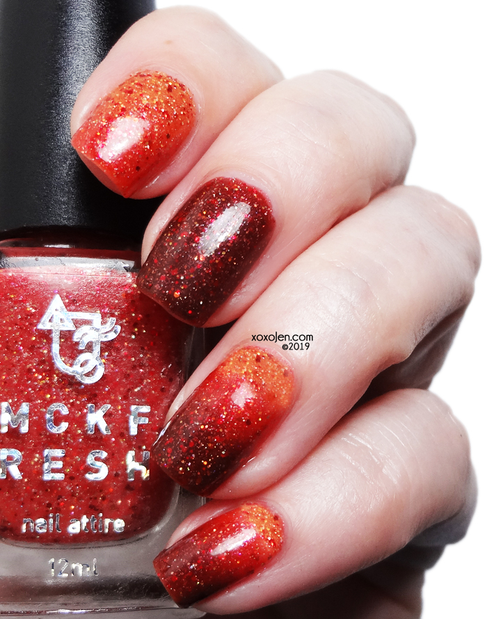 xoxoJen's swatch of Mckfresh Nail Attire Valor