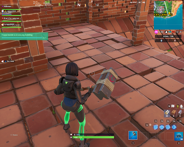 Found inside a stone pig building FORTBYTE Mission #69