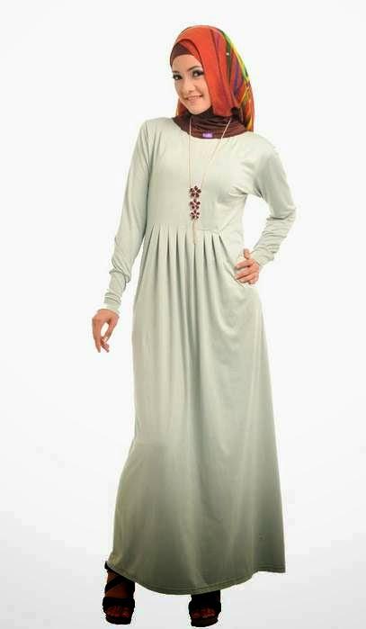 Model dress hamil muslim untuk pesta terbaru