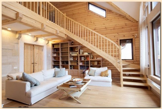 Interior Wood Makes The House Feel Peaceful Because Colors Too However Is Used For This Room Should Also Be Considered