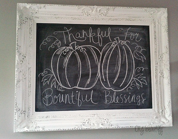 fall art for chalkboard