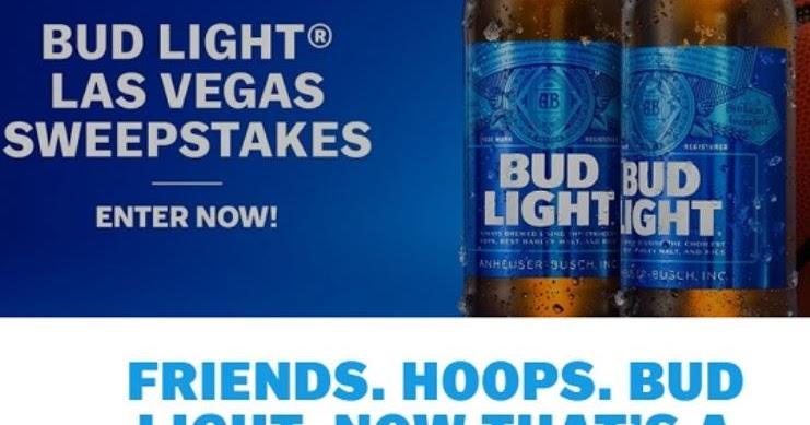 Bud Light Vegas Hoops Flyaway Sweepstakes - 14 Winners Win a