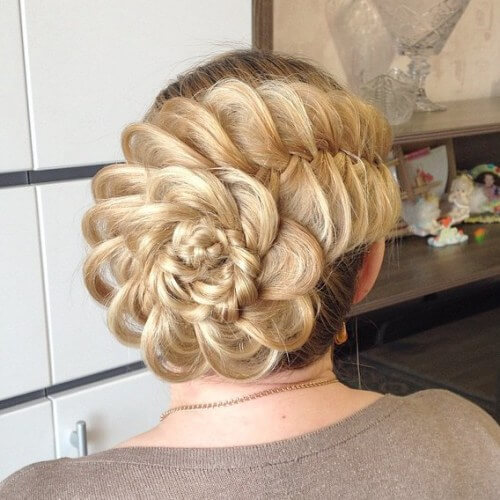 messy updos for long hair ,loose formal updo