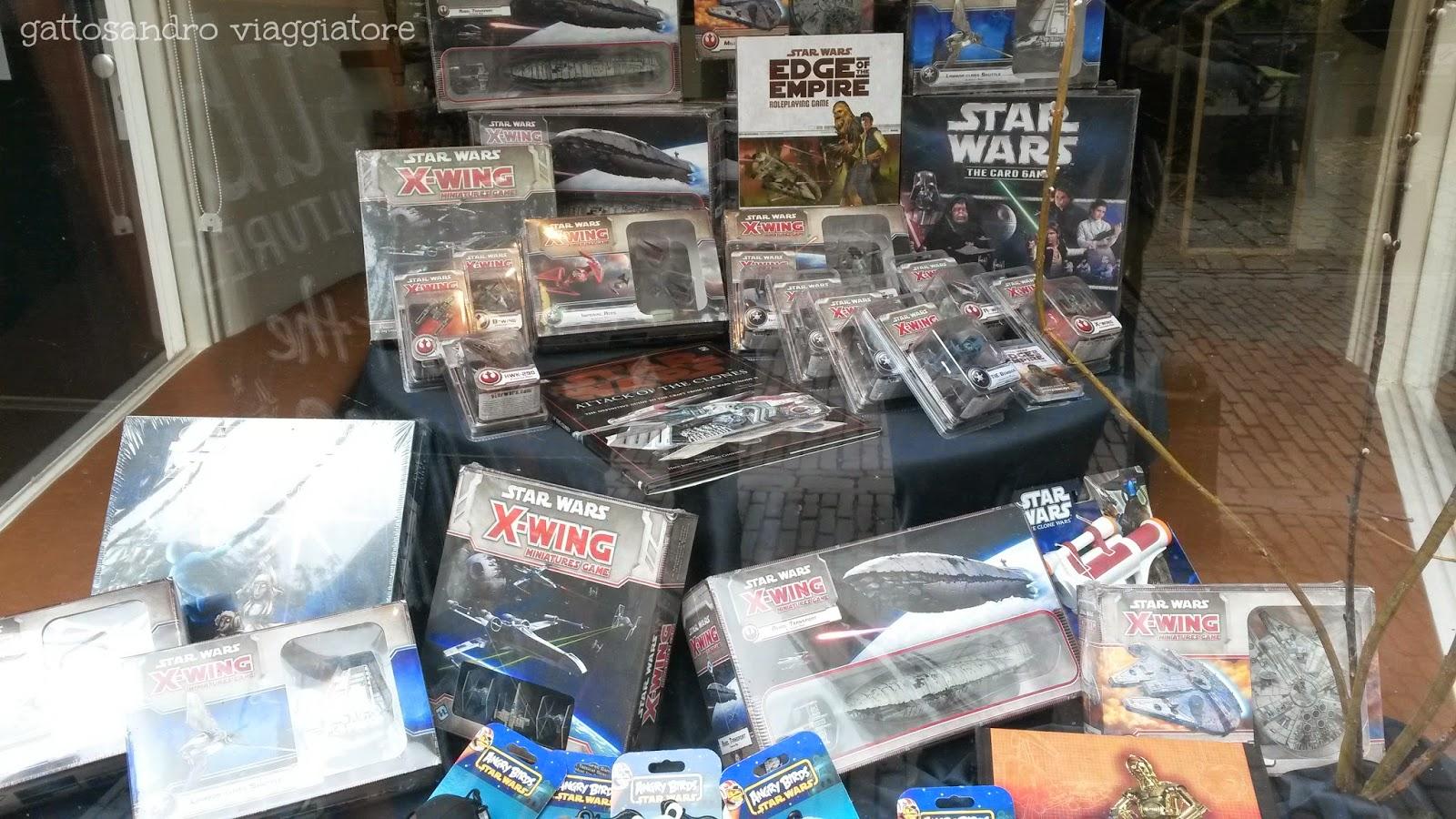 Vetrina negozio ad Amsterdam a tema Star Wars