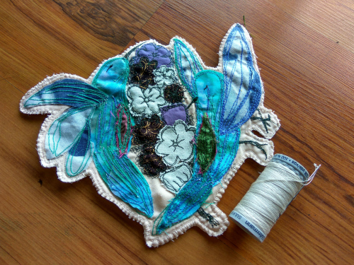 Hummingbird Repair Patch - Free Motion Embroidery