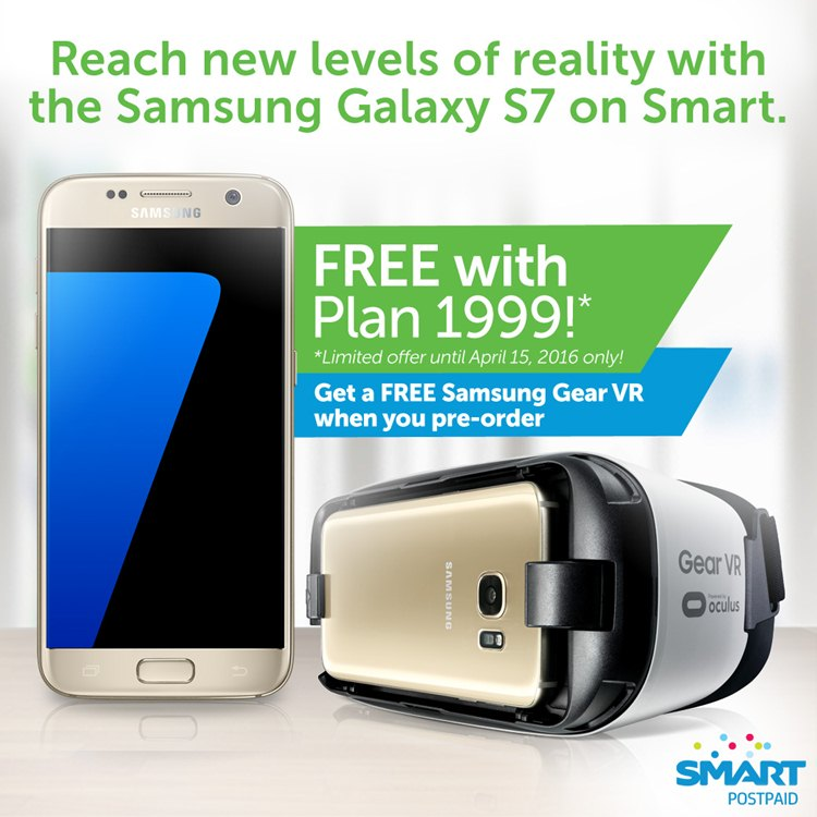 Smart Surf Plus Plan 1999 offers FREE Samsung Galaxy S7 plus Samsung Gear VR