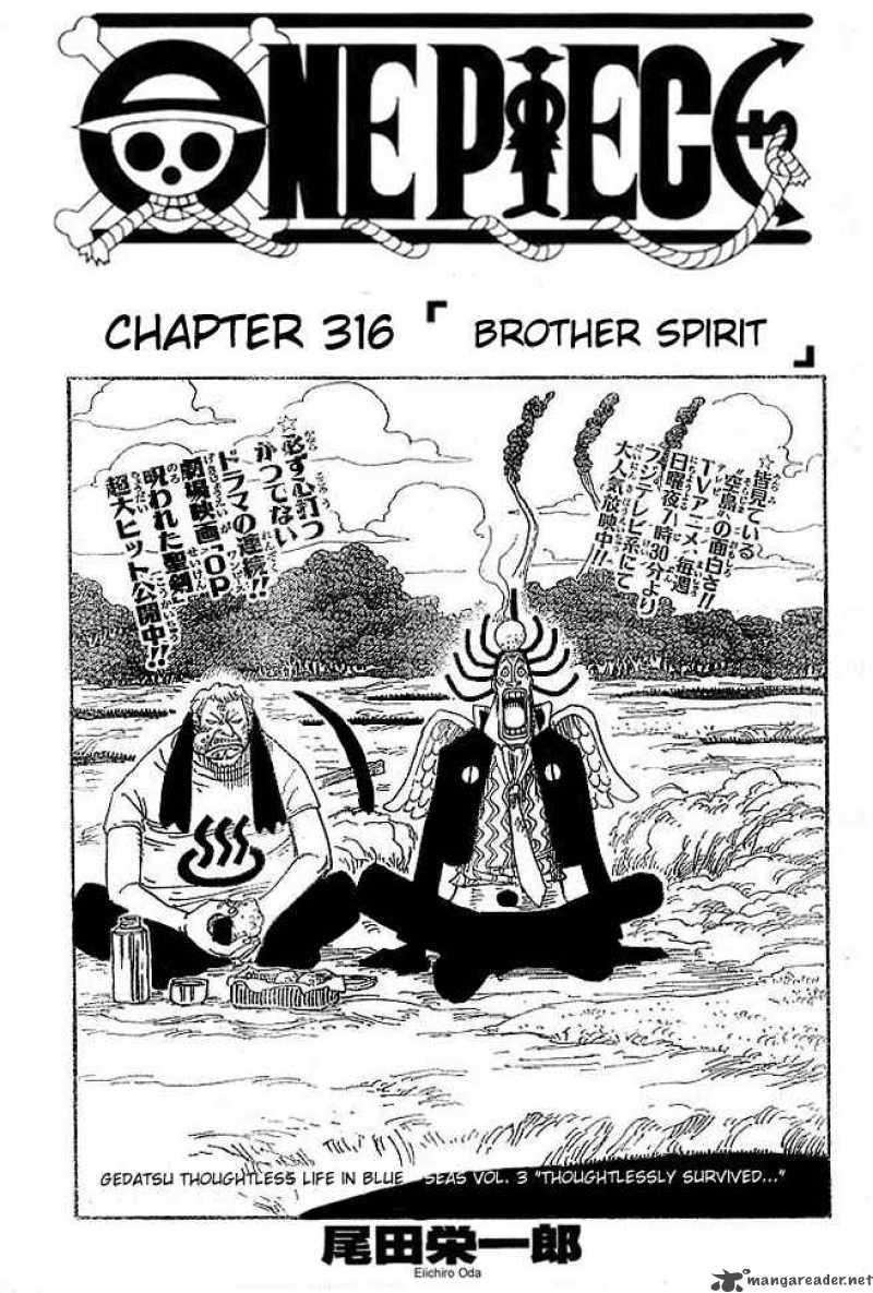 One Piece Ch 316