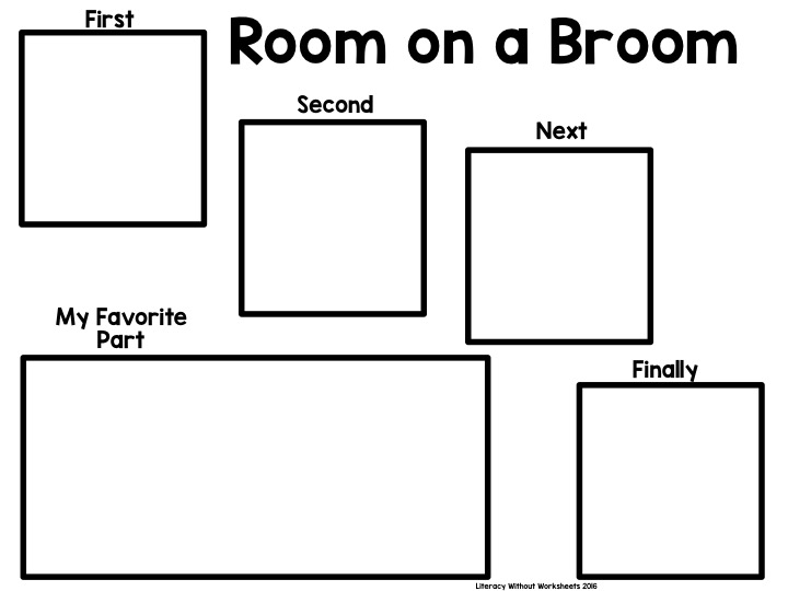 Fall Mentor Text Strategies Room on a Broom: Text