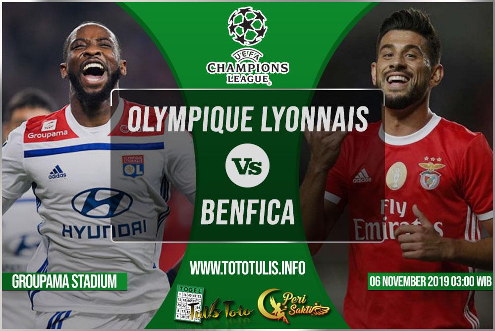 Prediksi Olympique Lyonnais vs Benfica 06 November 2019