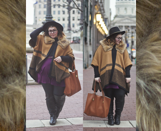 Cold & Faux, an outfit on katielikeme.com faux fur, street style