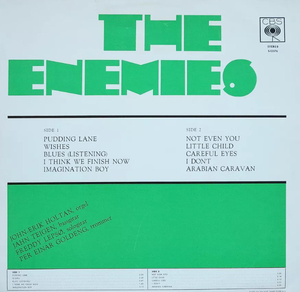 Johnkatsmc5 the enemies the enemies 1968 norway psych pop rock jahn teigen later became known as the powerful vocalist of popol vuhace at this stage he recorded beat and rb of very limited interest only publicscrutiny Gallery
