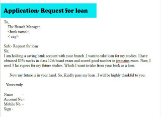 application for taking loan from bank