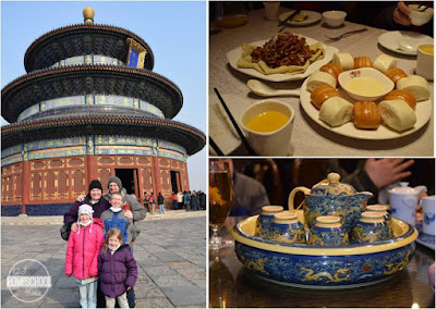 temple of heaven, traditional tea service, and yummy chinese food with peking duck