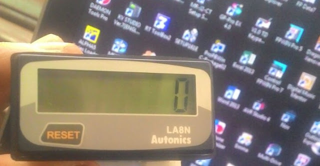 Cara Wiring Counter Autonics LA8N BN